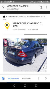 Mercedes c200 ili. C220