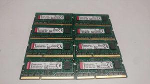 8 komada Kingston 4GB DDR3L 1600MHZ Laptop memorija