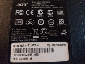 Laptop ACER Aspire 5625G-DIJELOVI