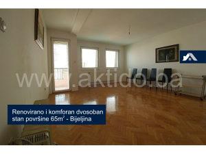 Renoviran dvosoban stan površine 65m², Bijeljina