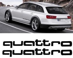 2X Audi Quattro Naljepnica Naljepnice - Znak A3 A4 A6
