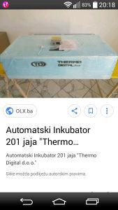 Inkubator 200 jaja automatski
