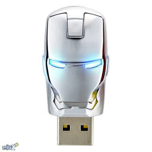 Srebreni USB Stick Iron Man - 8GB