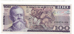 MEKSIKO 100 pezosa 1982 Unc