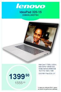 Laptop LENOVO IdeaPad 320-15 i7-7500U 3,5GHz