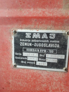 Kombajn Zmaj 780rpm