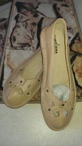 Zenske kožne cipele-baketanke
