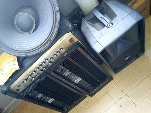 Servis audio opreme, pojačala, mixeri, zvučnici....