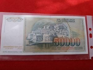 50000 dinara Jugoslavija SFRJ UNC