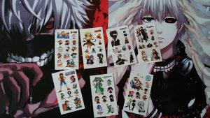 Anime One Piece, Naruto, Tokyo Ghoul, Gintama tetovaže