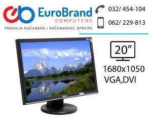 """LCD monitor ASUS 20"""" widescreen"""