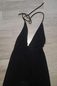 crna duga elasticna haljina