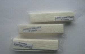 Samogoreći listići 30kom, papirići za zadimljavanje