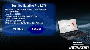 Toshiba Satellite Pro L770 Core i3 2nd gen.