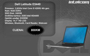 Dell Latitude E5440 Core i5 4th gen.