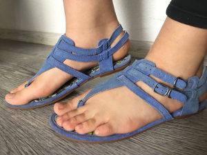 Sandale zenske 38, HUSH PUPIES, nove velur plave