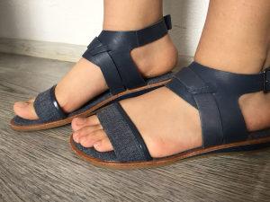 Sandale zendke 37, LACOSTE, plave, nove