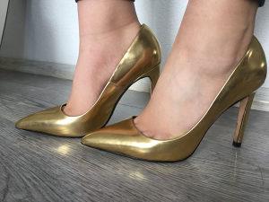 Cipele zenske 38, ZARA, zlatne, predobre