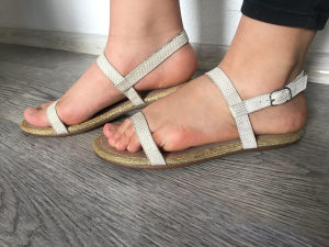 Sandale zenske 37, HUSH PUPIES, nove, boja leda