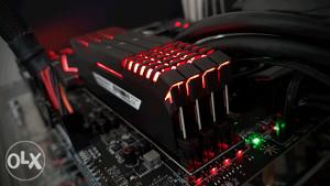 CORSAIR 16GB Vengeance LED DDR4 3000MHz CL16 Red