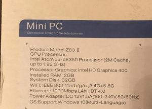 Z83II - Mini PC