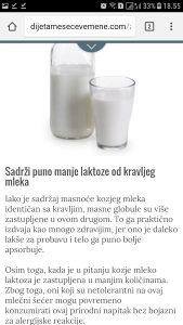 Kozije mlijeko