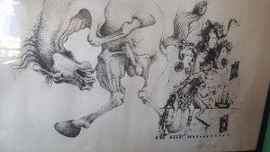 Umjetnicka slika grafika  iz 86 godine