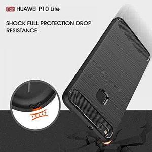 Carbon-Fiber maska za Huawei P10 Lite -Crna-