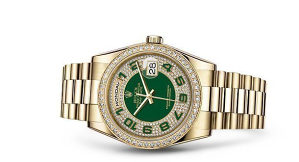Rolex Day-Date Gold Green Diamond