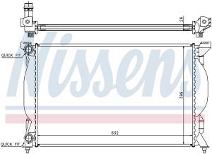AUDI A4 -Hladnjak vode 1.6i/1.9TDI/2.0FSi (2000-2007)