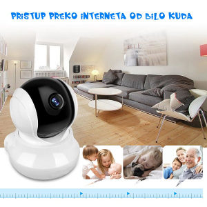 IP Kamera 1MPx, Pokretna , WiFi , HD podrz. SD Kartica
