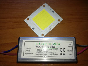Led chip led dioda + driver trafo 50W IP65
