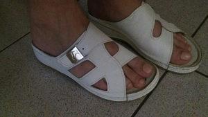 Kožne anatomske papuče 37