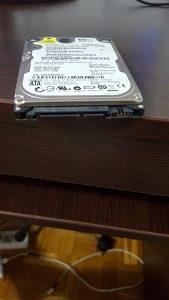 Hard disk HDD WD 250GB SATA za LAPTOP
