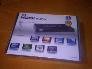 HDMI Splitter / spliter, razdjelnik 1x8 (8 izlaza)