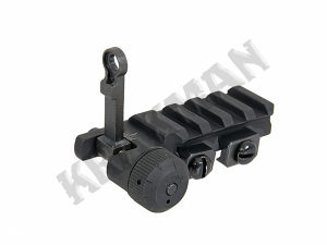 Airsoft Folding rear sight for PDW [BOYI]