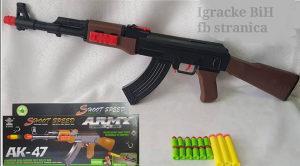 Puška AK - 47 sa dvije vrste metaka NOVO!