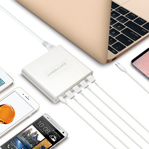 HyperJuice 80W USB-C Charger with 4 x QC 3.0 USB*