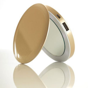 Pearl Compact Mirror USB Battery 3000mAh (Gold)*