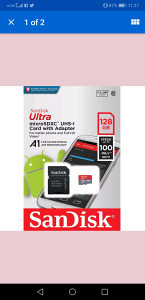 MicroSDXC UHS I 128gb SanDisk
