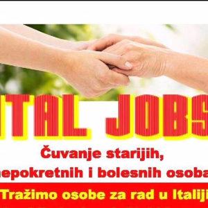 Posao - Njegovateljica u Italiji