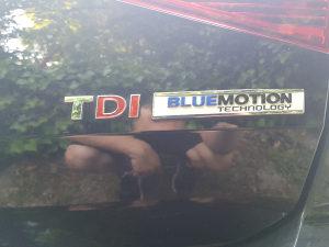 Znak TDI znak Bluemotion