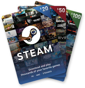 Steam Wallet Gift Key 5$ 10$ 20$ 50$