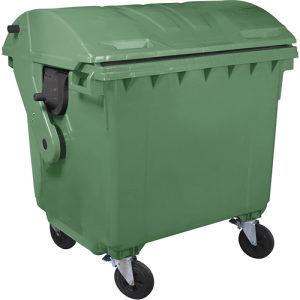 Plastični kontejner -1100l polukružni poklopac