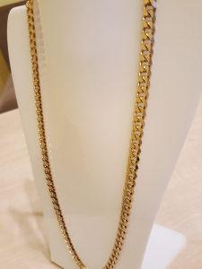 Lanac kajla zlato 7mm/75 cm
