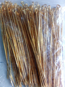 Iglice za naušnice- zlatne 7 cm 100 kom