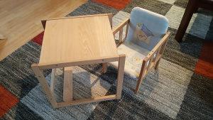 Puno Drva Stolica za Hranjenje Sto Stol Stolica