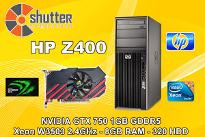 HP Z400 GTX 750 1GB GDDR5 Workstation Gaming