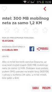 mtel : 300mb za 1.2km