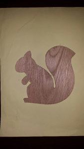 Drvena igračka - vjeverica